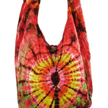 Reversible Tie-Dye Cotton Bohemian Shoulder Bag = 1928585988