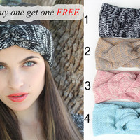 Buy one get on FREE Knitted Warmer Headband Great accessory for your outfit