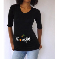 "Thanksgiving Maternity Shirt "" Thankful"" - Maternity clothes"