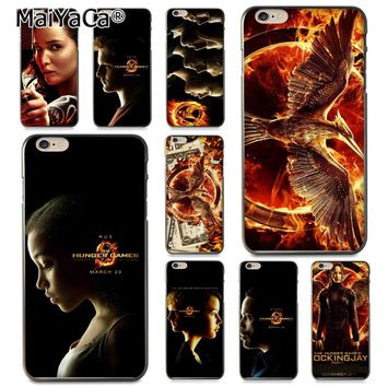 MaiYaCa The Hunger Games Coque Shell Phone Case  for Apple iPhone 8 7 6 6S Plus X 5 5S SE 5C Cellphones