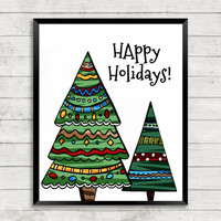 Christmas Tree Printable, Christmas Printable