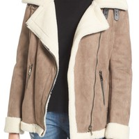 Vigoss Faux Shearling Oversized Jacket | Nordstrom