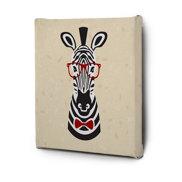 Hipster Animals Pictures Series Canvas Wall Art Painting Prints Decor Zebra