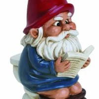 BigMouth Inc Gnome on a Throne
