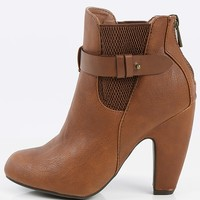 Dollhouse Tricked Round Toe Ankle Boots