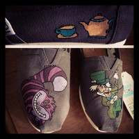 Alice in Wonderland Inspired Custom TOMS