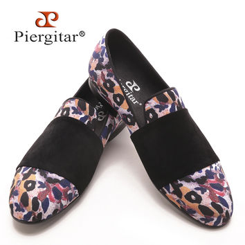Luxury Men's Animal Prints Cotton Fabric with Black Suede Strap Casual Style for Party Banquet and Prom