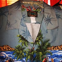 HAWAIIAN COLLECTION RESERVE SHIRTS VINTAGE BIKES CASUAL!SIZE L!MADE IN HAWAII