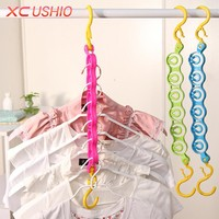 6 Hole Windproof Clothes Hanger Multifunctional Travel Magic Hanger Rack With Hook Home Wardrobe Space Save Laundry Rack