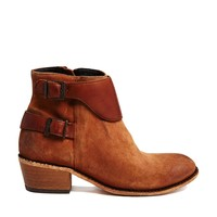 H By Hudson Lumo Suede Tan Ankle Boots