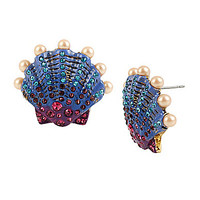 Betsey Johnson Seashell Button Stud Earrings | Dillards.com