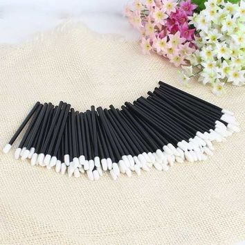 50Pcs Disposable lipstick/Eyelash Wands Applicator lipbrush Makeup Tool