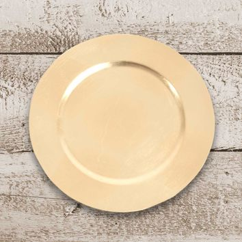 Amiltola Charger Plate in Gold | Set of 4
