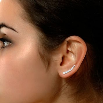Simple and elegant circle ear cuffs