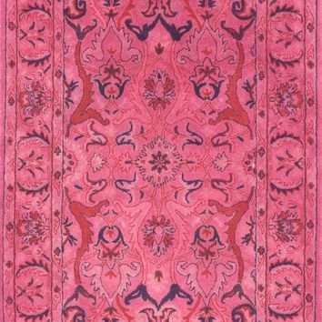 nuLOOM Hand Tufted Kimberly Overdyed Style Rug Pink