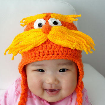 Lorax Hat The Lorax Inspired from Dr Seuss by stylishbabyhats