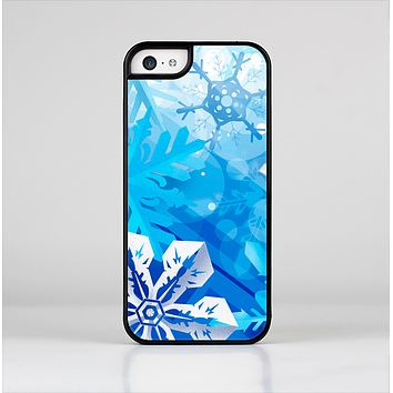 The Winter Abstract Blue Skin-Sert for the Apple iPhone 5c Skin-Sert Case