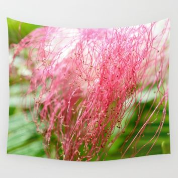 Pink Costa Rican Flower Wall Tapestry by UMe Images
