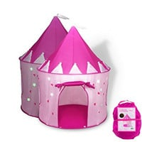 Princess Castle Play Tent with Glow in the Dark Stars