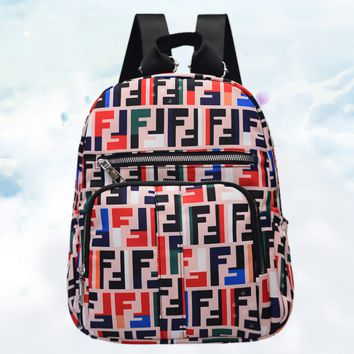 FENDI School Bag Sports Travel Bag Shoulder Bag School Backpack