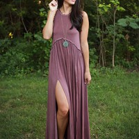 Fashion Queen Maxi Dress in Vineyard Grape