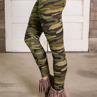 Camo Please Soft Stretch Leggings