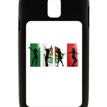 Mexican Flag - Dancing Silhouettes Galaxy Note 3 Case  by TooLoud