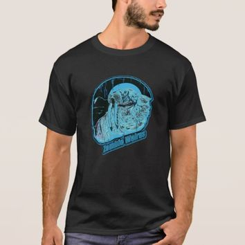 Zombie Walrus Original-Distressed Look Blue Ice T-Shirt