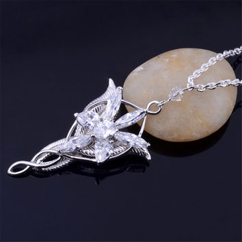 Youpop Lotr Elf Princess Arwen Evenstar Pendants Twilight Elves Princess Neck Cosplay Jewelry Necklace