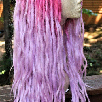 Two-Tone Pastel Pink Synthetic Lace Front Dreadlock Wig * Pastel Goth * Loc Wig * Dreads * Kawaii * Fairy Kei * Harajaku * Fairy * Nu Goth *