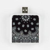 Bandana Print Portable Battery Pack Black One Size For Women 25179710001