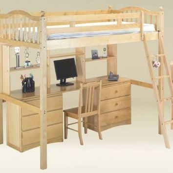 Frisco Prep Twin Size Loft Bed