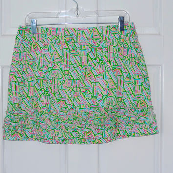 Lilly Pulitzer Sailboat Scooter Skirt
