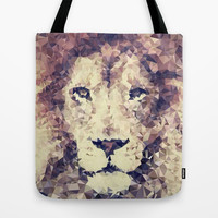 lion triangles Tote Bag by rocofi | Society6