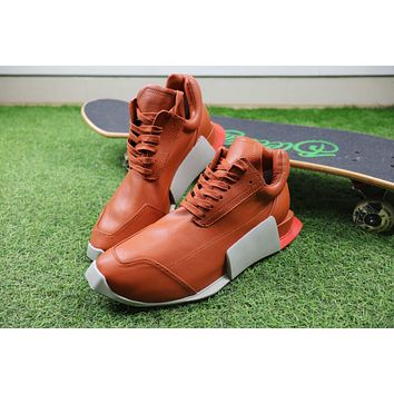 Sale Rick Owen x Adidas Level Runner Low Boost Orange S81141