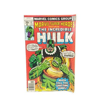 Marvel Super Heroes, The Incredible Hulk, Sandman, Vintage Comic Books, Stan Lee, 1970's, Ephemera, Herby Trimpe, Sci Fi