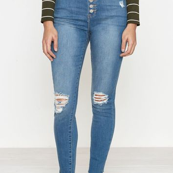 PacSun Del Amo Blue High Rise Jeggings at PacSun.com