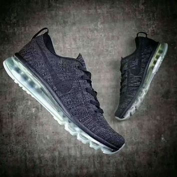 Nike Flyknit Air Max running shoes F-XYXY-FTQ Gray and black