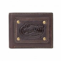 Jack Mason NCAA Brown Leather Gridiron Traveler Wallet
