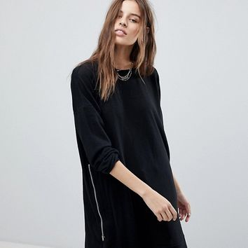 Noisy May Longline Zip Sweatshirt at asos.com