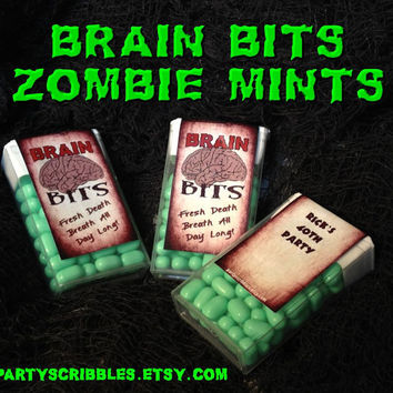 Zombie Apocalypse Candy Favor Labels for the Walking Dead, Warm Bodies, World War Z Printable