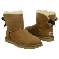 Women's UGG Mini Bailey Bow Boot Chestnut Shoes.com