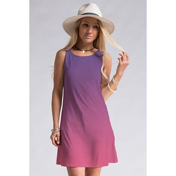 Shades of Sherbert Dress - Purple and Pink