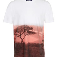 WHITE SAVANNA DIP DYE T-SHIRT