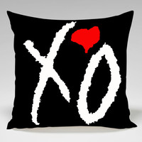 xo weeknd cool logo Square Pillow Case Custom Zippered Pillow Case one side and two side
