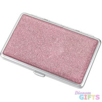 Visol Limelight Hot Pink Glitter Double Sided Cigarette Case