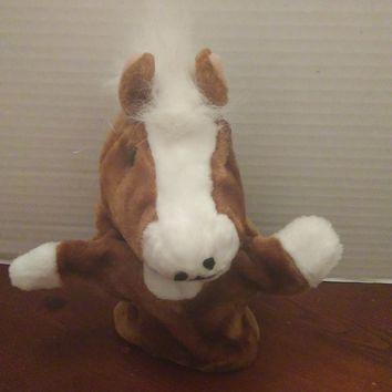 vintage midwestern home products brown pony horse hand puppet plush
