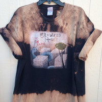 Bleached unisex Crowded House Rock band shirt, grunge concert wear, Australia band