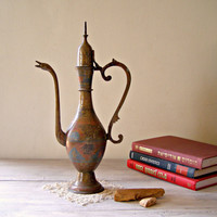Russian copper Pitcher Vintage decorative tall by MeshuMaSH