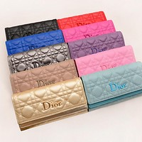 Dior LV Women Leather Multicolor Wallet Purse